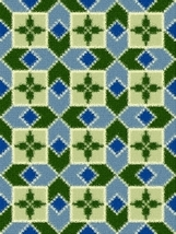 Latch Hook Rug Pattern Chart: CLOVER SQUARES - EMAIL2u - $5.75