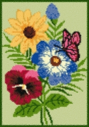 Latch Hook Rug Pattern Chart: BUTTERFLYinFLOWERS EMAIL2u