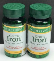 2x Natures Bounty / Gentle Iron Glycinate 28mg / 90 Capsules / EXP 07/2022 - $18.80
