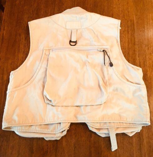 WFS KHAKI Beige fishing vest Size L 60% Cotton 40% Poly #186 image 7
