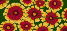 Latch Hook Rug Pattern Chart: Indian Blanket - EMAIL2u - $5.75