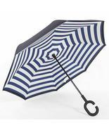 C-Handle Parasol Folding Rain Windproof Umbrella Double Layers Inverted ... - $21.99
