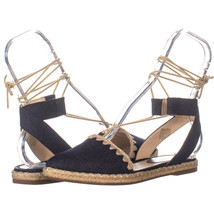 Nine West 311 Ankle Strap Espadrilles, Navy Blue 758, Navy Blue, 7.5 US - $23.61