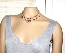vintage Sarah Coventry Cov. large rhinestone choker necklace gold filigree - $34.64
