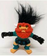 Viking Battle Troll Vtg 90s Action Figure 1992 Hasbro Red Beard Black Ha... - $19.79