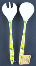 NWT Michel Design Works 2 Pc. Lemon Basil Melamine Serving Set - $12.99