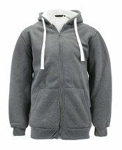 Men's Heavyweight Thermal Zip Up Hoodie Sherpa Lined Sweater Jacket w/ Defect XL