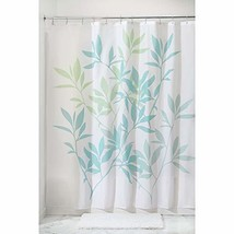 "InterDesign 35650 Leaves Fabric Shower Curtain - Standard, 72"" x 72"", Blue/Green - $17.13"