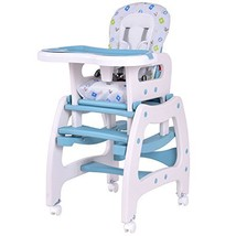 Costzon 3 in 1 Infant High Chair Convertible Play Table Seat Booster wit... - $113.84