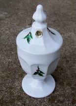 Westmoreland Holly & Berry Milk Glass Candy Jar w /Orig Sticker - $39.99