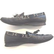 Cole Haan Women's Black Leather Loafer Shoes with Tassels Size 7 B - $9.49