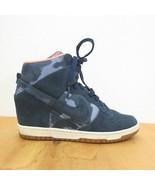 39 / US 8 - Nike Dunk Sky Hi Printed Hidden Wedge Sneakers 543258-401 09... - $48.00