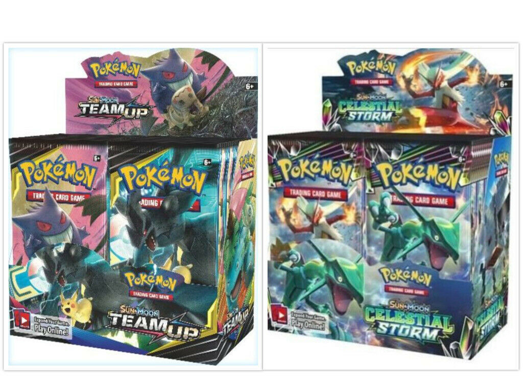 Pokemon TCG Sun & Moon Team Up + Celestial Storm Booster Box Bundle image 1