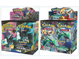 Pokemon TCG Sun & Moon Team Up + Celestial Storm Booster Box Bundle - $209.99