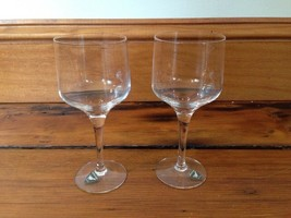 Pair 2 Vtg Orrefors Sweden Small Swedish Crystal Goblets Sherry Wine Gla... - $100.00
