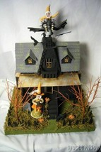 Bethany Lowe Haunted House & 2 Vintage Spun Cotton  Figurines!  light included image 1
