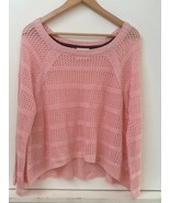 Tommy Girl Hilfiger Women's Sweater Long Sleeve Pink Open Knit Size S Small - $14.95