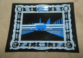 """VINTAGE FORD CLEVELAND FOUNDRY  9"""" X 7"""" GLASS TRAY FORD MOTOR CO  - $25.99"""