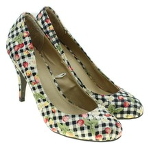 Forever 21 Womens Floral Gingham Fabric Pumps Heels Size 6.5M - $24.74