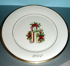 Lenox Holiday Gift Accent Plate 2012 Collectors Annual Limited Edt Numbered New - $22.90