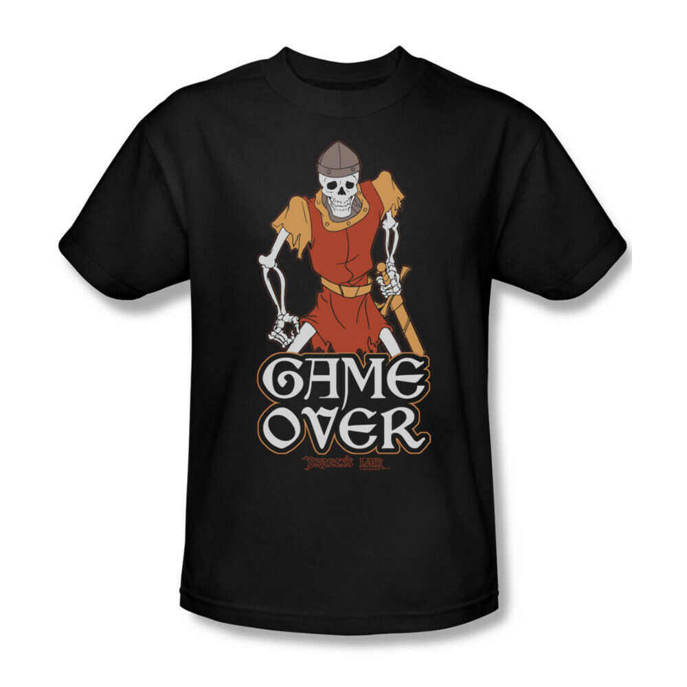 Dragons Lair Game Over t-shirt retro 80's classic arcade game graphic tee DRL100