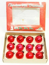 "Vintage 3/4"" Mini RED Glass Christmas Ornaments - Japan #5B - $10.00"