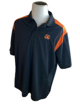 NFL Team Apparel Cincinnati Bengals Black Polo Golf Style Shirt XL - $18.66