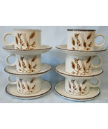 Midwinter by Wedgwood Wild Oats Cup & Saucer Set of 6 - $42.46