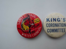 Lot of 3 Vintage St. Paul Winter Carnival Pinback Buttons image 2