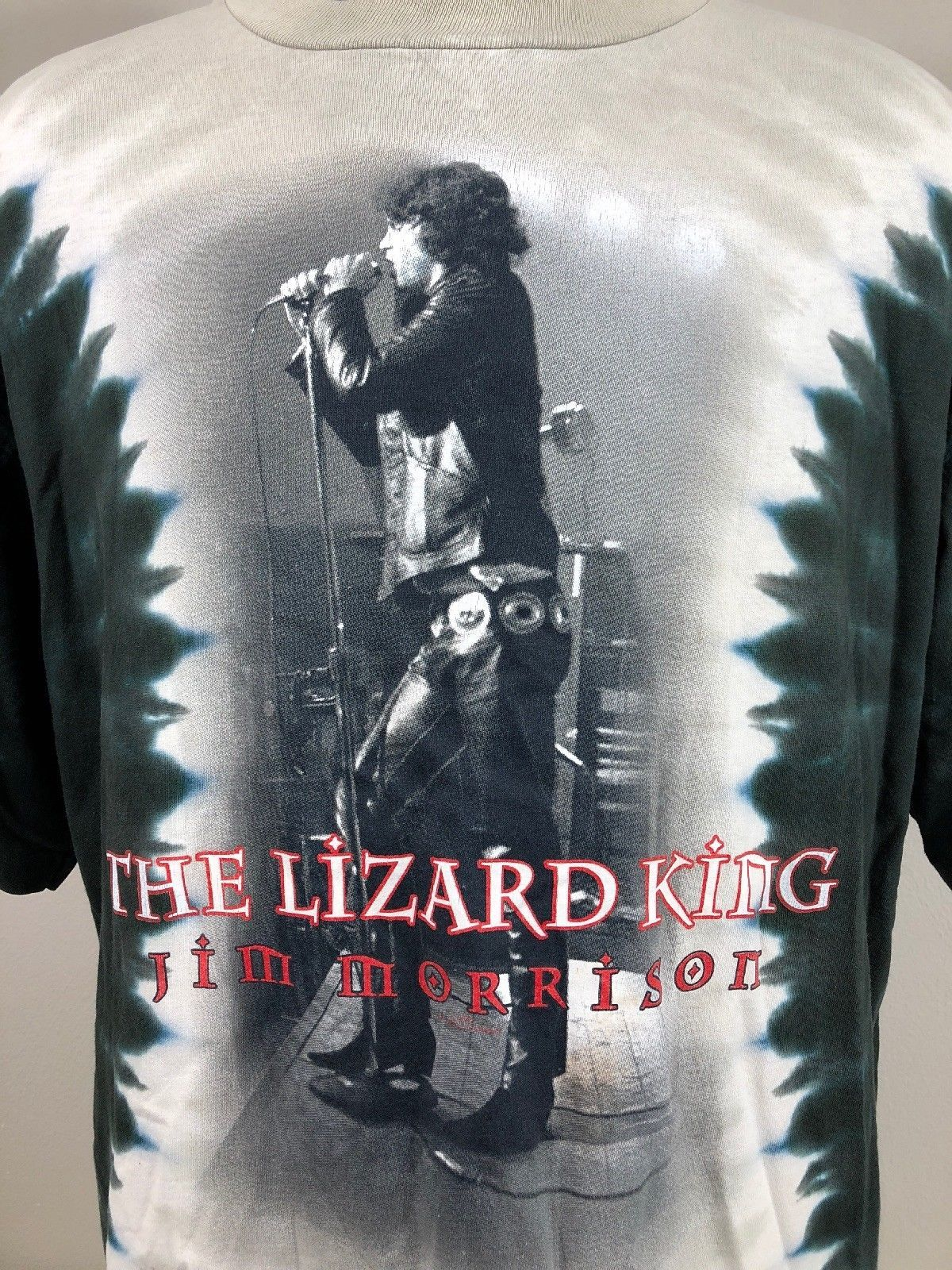 1fd20fe252fa61 VTG Jim Morrison T Shirt Lizard King Liquid Blue 90s Made USA Tie Dye  Concert