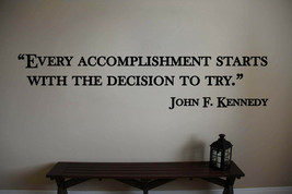 John F. Kennedy Inspirational Classroom Quote Vinyl Wall Sticker Decal (a) - $14.99+