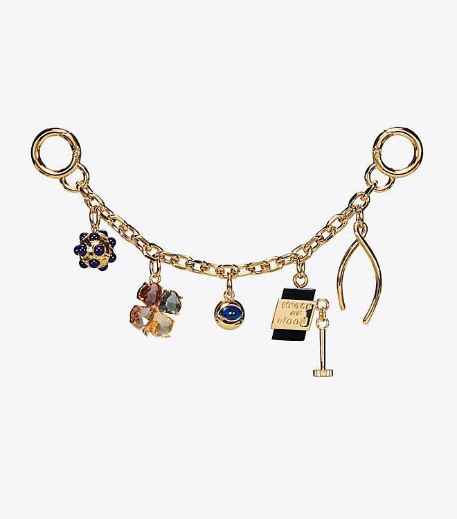 Tory Burch Lucky Charm Chain Key Fob