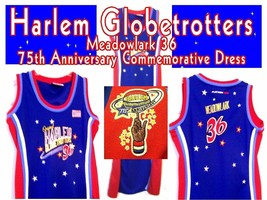 Harlem Globetrotters Meadowlark 75th Anniversary Commemorative Dress Sz S-M - $36.00