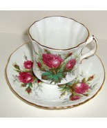 China Teacup Set by Hammersley in Grandmother's Rose Pattern - $25.00