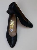 Salvatore Ferragamo Shoes Heels Blue Pumps Low Heels Italy Womens Size 5... - $153.41