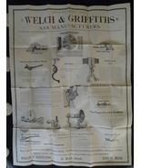 Welch Griffiths saw tool broadsheet 1800 Boston advertising ephemera  - $75.00