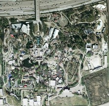 Arial View Astroworld Map Poster 24 X 24 Inches Beautiful Nostalgia Houston Tx - $21.77