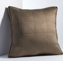 "Simply Vera Wang Infinity Euro Pillow Sham Size: 24 X 24"" New Brown Ship Free - $59.99"