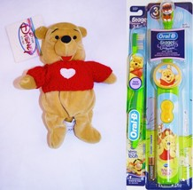 Oral B Winnie The Pooh ToothBrush Electric and Manual Bundle With Bean Bag Pooh - $69.99