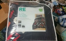 Room Essentials XL Alphabet Twin Reversible 5 Piece Lim. Edit. Dorm Bedd... - $47.50