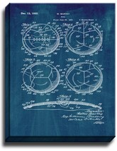 Soccer Ball Patent Print Midnight Blue on Canvas - $39.95+