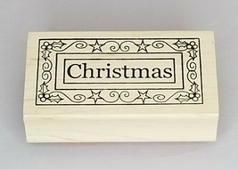 Outlines Rubber Stamp Co. Christmas Wood Mounted Rubber Stamp