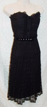 Betsey Johnson 6 Black Cocktail Dress Lace Lacey Bustier Punk Fit N Flare womens - $54.11