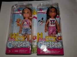 Barbie Chelsea Club Doll Girls Unicorn Shirt Blond and Dog Shirt Brunett... - $14.99
