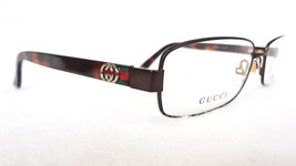 GUCCI Frame Glasses GG2894 Brown Havana Stainless Steel 135 MADE IN ITAL... - $199.95