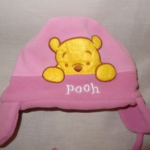 Disney Winnie the Pooh Hat Winter Ear Flaps Size Infant  Pink Fleece - $9.99