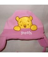 Disney Winnie the Pooh Hat Winter Ear Flaps Size Infant  Pink Fleece - $9.99