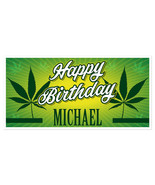 Marijuana Birthday Banner Personalized Party Backdrop Decoration - $22.28+