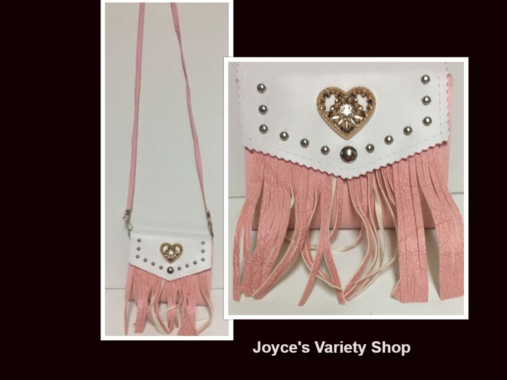 Western Faux Leather Fringe Purse Cross Body Choose Color Black Blue Pink NWT