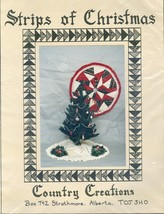STRIPS OF CHRISTMAS-TREE SKIRT-StripPiecing-COUNTRY CREATIONS-LORRAINE S... - $9.99
